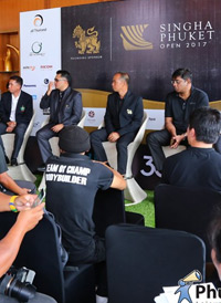 "Press conference ""Singha Phuket Open 2017"""